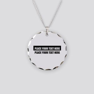 Add text message Necklace Circle Charm