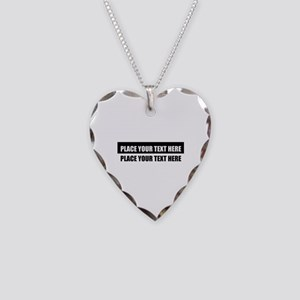 Add text message Necklace Heart Charm
