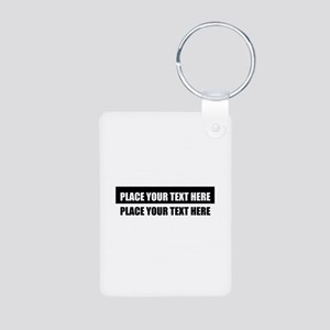 Add text message Aluminum Photo Keychain