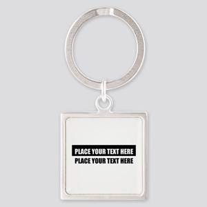 Add text message Square Keychain
