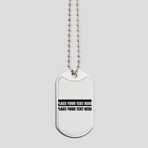 Add text message Dog Tags