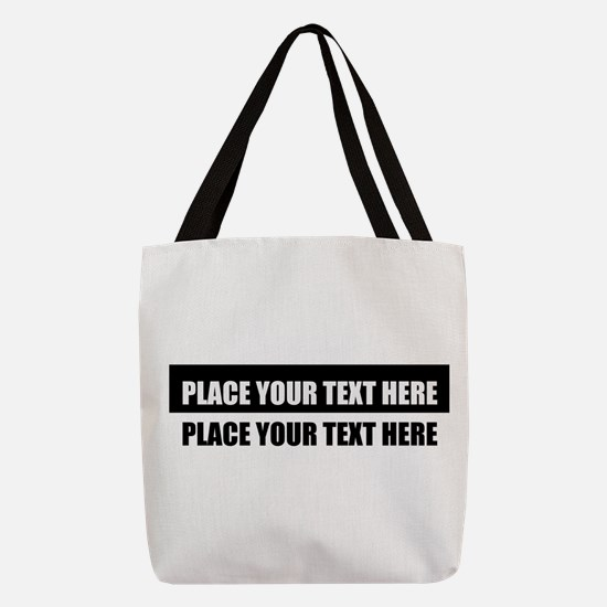 Add text message Polyester Tote Bag