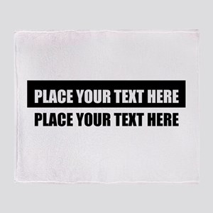 Add text message Throw Blanket
