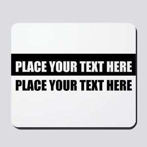 Add text message Mousepad
