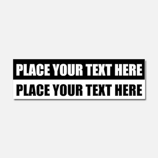 Add text message Car Magnet 10 x 3