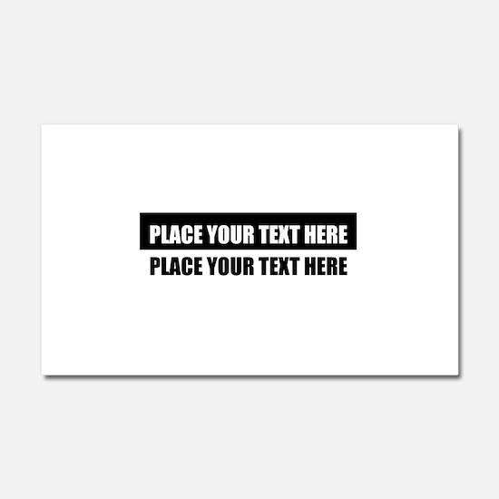 Add text message Car Magnet 20 x 12