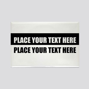 Add text message Rectangle Magnet