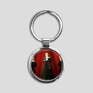 Stern Nuns Round Keychain