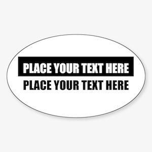 Add text message Sticker (Oval)