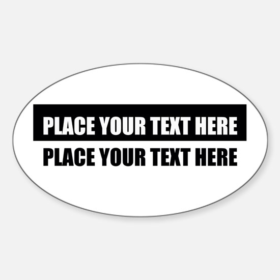 Add text message Sticker (Oval)