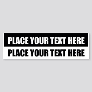 Add text message Sticker (Bumper)