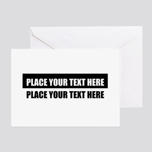 Add text message Greeting Card