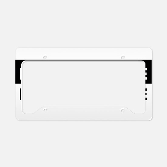 Add text message License Plate Holder