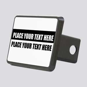 Add text message Rectangular Hitch Cover