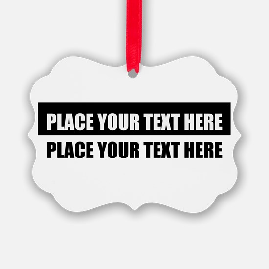 Add text message Ornament