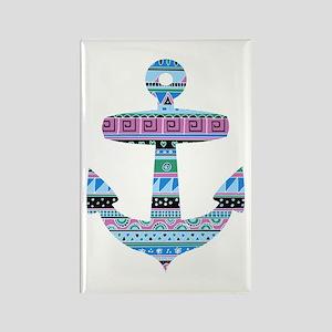 Blue Tribal Anchor Rectangle Magnet