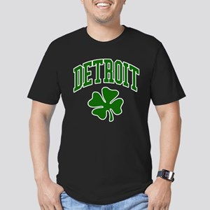 Detroit 313 IRISH Men's Fitted T-Shirt (dark)