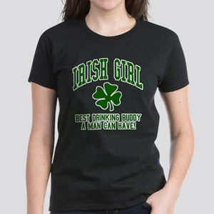 Irish Girl Drinking Buddy Women's Dark T-Shirt