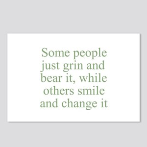 Some people just grin and bea Postcards (Package o