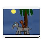 Monkey and Elephant illustration Mousepad