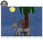 Monkey and Elephant illustration Puzzle