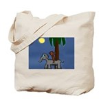 Monkey and Elephant illustration Tote Bag