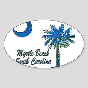 Myrtle Beach 1 Sticker (Oval)