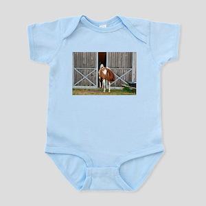 My Paint Horse is Curious Infant Bodysuit