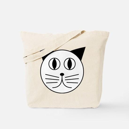 Cute Kitty Cat Face Tote Bag