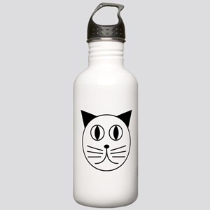 Cute Kitty Cat Face Stainless Water Bottle 1.0L