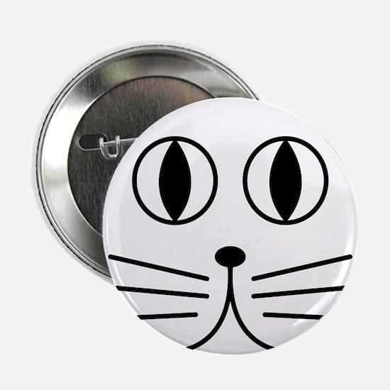"Cute Kitty Cat Face 2.25"" Button"