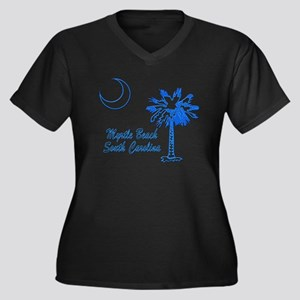 Myrtle Beach 3 Women's Plus Size V-Neck Dark T-Shi
