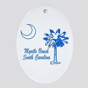 Myrtle Beach 3 Ornament (Oval)