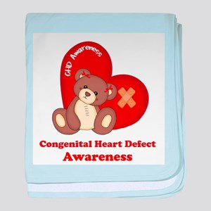 Congenital Heart Defect Awareness baby blanket