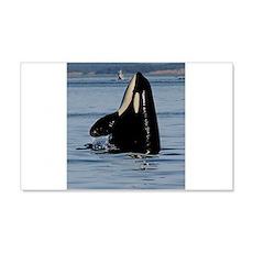 Spy Hopping Orca Wall Decal