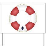 Red and White Life Saver Yard Sign