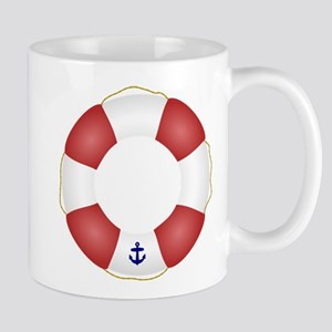 Red and White Life Saver Mug