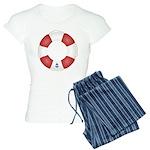 Red and White Life Saver Women's Light Pajamas