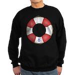 Red and White Life Saver Sweatshirt (dark)