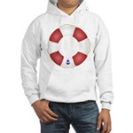 Red and White Life Saver Hooded Sweatshirt