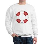 Red and White Life Saver Sweatshirt