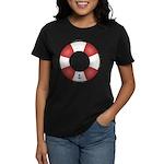 Red and White Life Saver Women's Dark T-Shirt