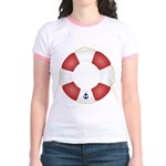 Red and White Life Saver Jr. Ringer T-Shirt