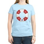 Red and White Life Saver Women's Light T-Shirt