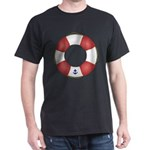 Red and White Life Saver Dark T-Shirt