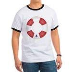 Red and White Life Saver Ringer T