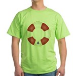 Red and White Life Saver Green T-Shirt