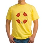 Red and White Life Saver Yellow T-Shirt