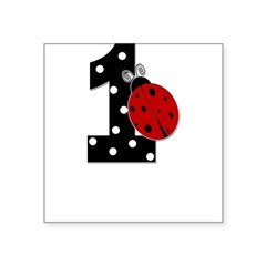 1_ladybug_birthdaygirl_BLANK Square Sticker 3