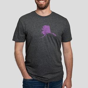 Alaska State Shape Outline Mens Tri-blend T-Shirt